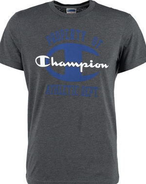 Champion Print T Shirt - Dark Grey