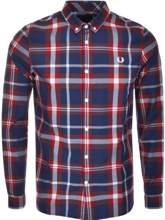 Fred Perry Classic Check Shirt Red