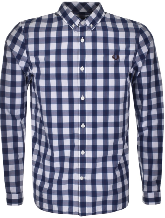 Fred Perry Classic Check Shirt Blue