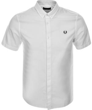 Fred Perry Retro Oxford Short Sleeve Shirt White