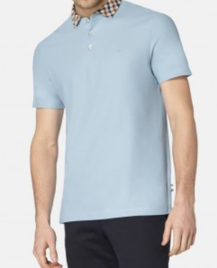CONISTON CLUB CHECK COLLAR POLO - Blue
