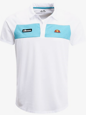 Ellesse ORSI - Polo shirt - optic white/azure blue