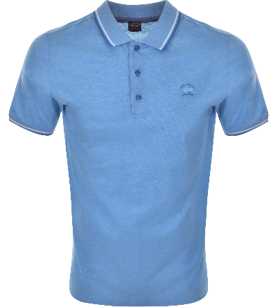 Paul & Shark Short Sleeved Polo - Blue Marl