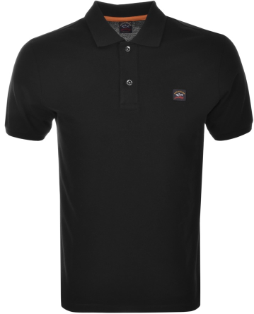 Paul & Shark Short Sleeved Polo - Black