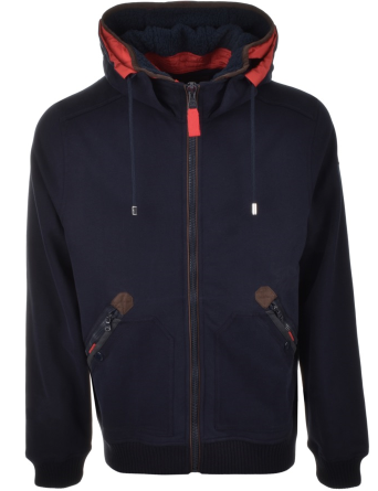 Paul & Shark Full Zip Hooded Sweatshirt Jumper - Navy