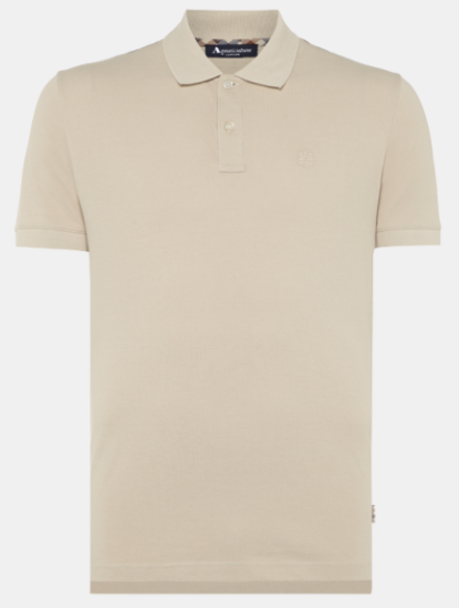 HILL CLUB CHECK POLO SHIRT - Beige
