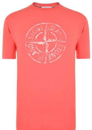 STONE ISLAND Compass Print T Shirt - Pink