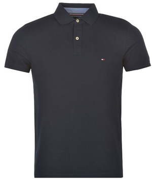 HILFIGER DENIM Jacquard Retro Polo Shirt - Midnight