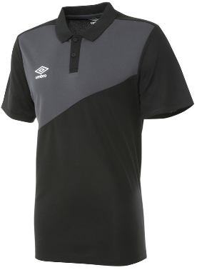 Mens Umbro Polo - BLACK/CARBON