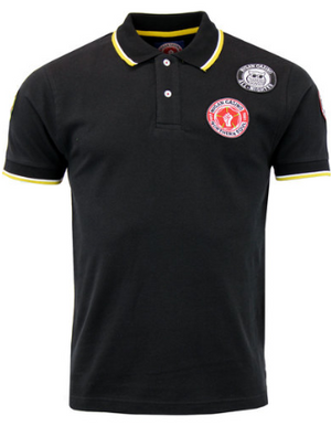 WIGAN CASINO Northern Soul Mod Multi Badged Polo