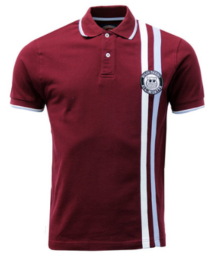 WIGAN CASINO Vintage Northern Soul Racing Stripe Polo