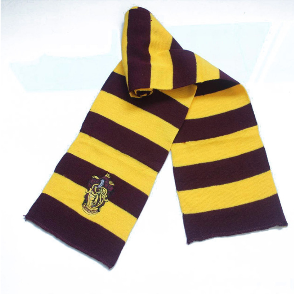 Harry Potter Inspired Hogwart's Crested House Scarf