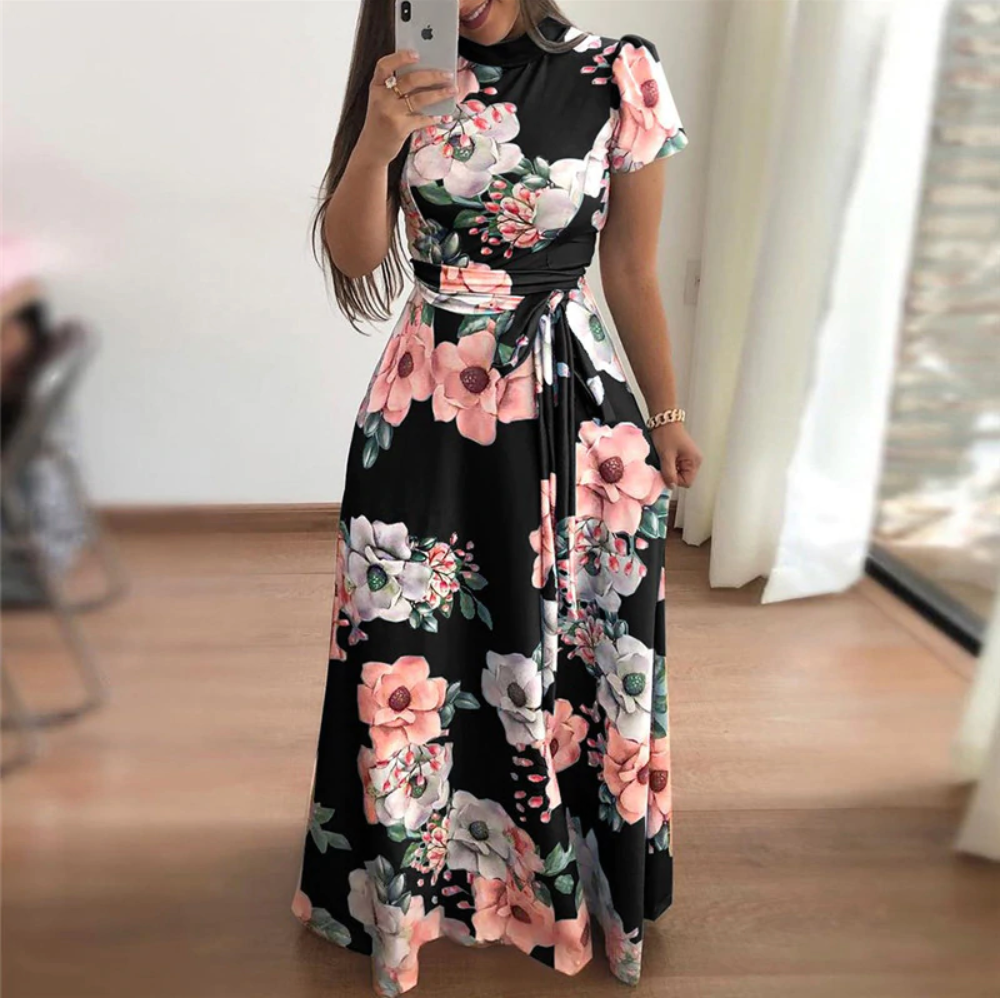 Floral Bondage High Wasted Summer Dress
