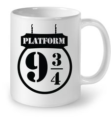 LIMITED EDITION - 9 3/4 Platform - Hogwarts School - Harry Potter - Ceramic Mug
