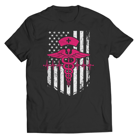 Limited Edition - Nurse Flag Pink Symbol