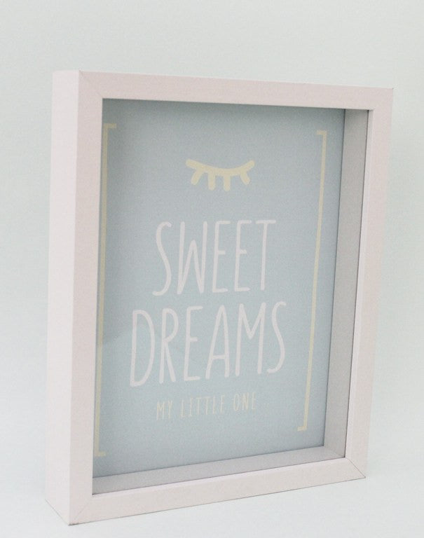 Cuadro Framed words [SWEET DREAMS] mediano - matizatusideas