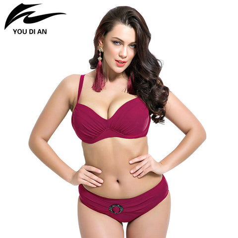 push up bikinis women summer Bathing Suit Push up biquini plus size Super Large Cup Women Swimwear Female beach suit