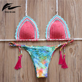 2016 lady print bikini monokini swimsuit beach suit women swimsuit crochet bikini swimwear women sexy swimwear bathing suit
