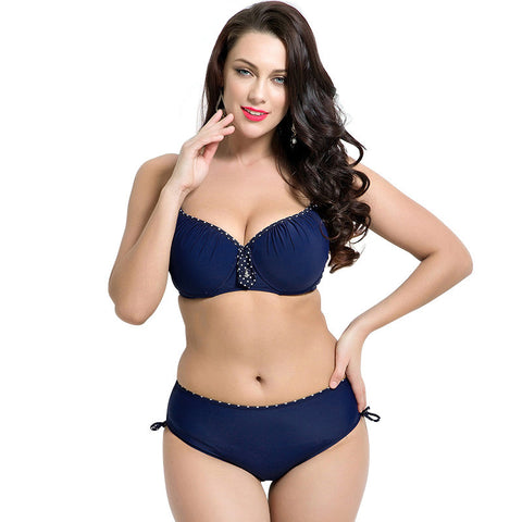 fat wear plus size bikini set Bathing Suit Push up bikinis women Large Cup Bikini  set a2a9f6ddaf53