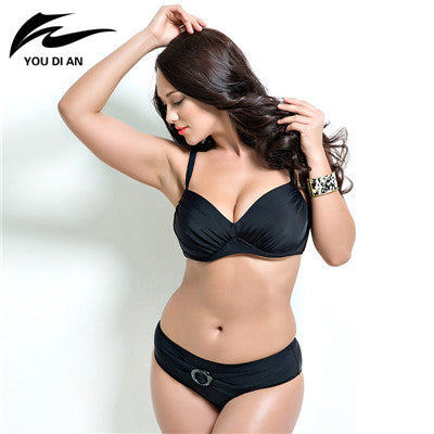 6d2ea0eec6043 push up bikinis women summer Bathing Suit Push up biquini plus size Super Large  Cup Women