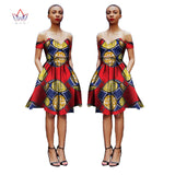 Pretty Women Suits New Fashion African  Printed Wax 2 Piece Set Women Crop Top And Skirt Set Fascinating dashiki sets WY1148