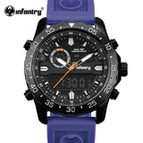 INFANTRY Men Watches Analog Quartz Wristwatch Waterproof Chronograph Auto Date Sports Watch Relogio Masculino 2017 New Fashion