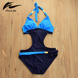 High Quality Women Swimwear Wire Free Padded Bandage One Piece Maillot De Bain Femme Bodysuit Swimsuit Summer Bathing Suit