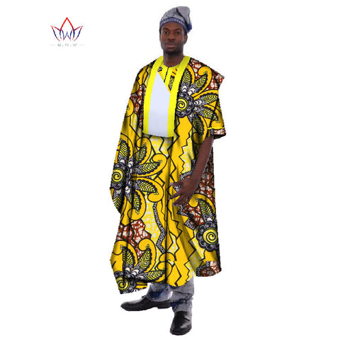 Traditional African Clothing Mens Robes Print Wax Loose Half Sleeve Thobe  Print Robes Africa Clothing Plus 7e534079bfe1