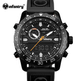 INFANTRY Mens Watches Top Brand Luxury LED Digital Date Quartz Watch Man Rubber Tactical Military Sport Wrist Watch Men Clock