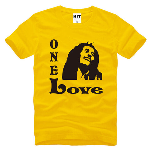 Bob Marley One Love Music Men's T-Shirt T Shirt For Men 2016 Novelty Short Sleeve O Neck Cotton Casual Top Tee Camisetas Hombre