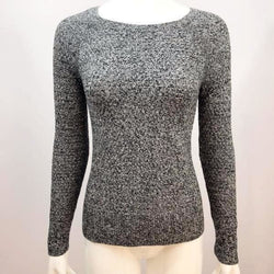 American Eagle - Women's Long Sleeve Knit Boat Neck Sweater Size Small P - Heather Grey