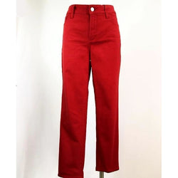 NYDJ - Women's Straight Leg Jeans Size 8 - Red