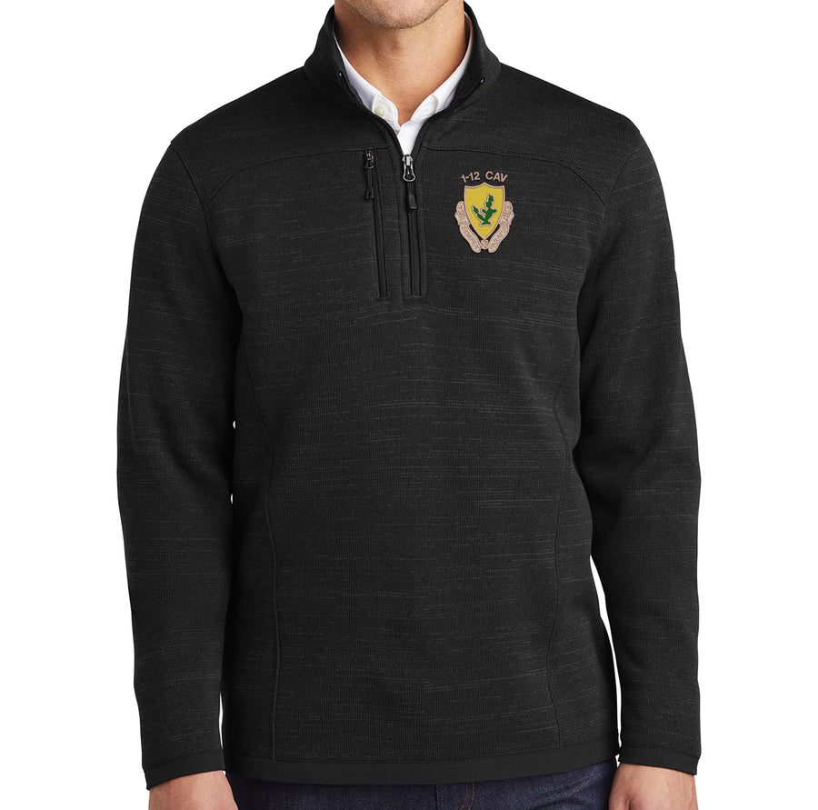 1-12 Cav Fleece Sweater 1/4 Zip