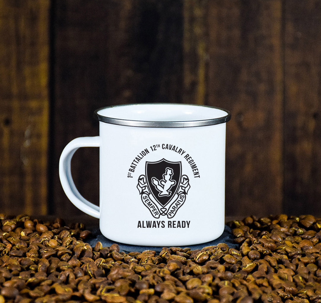 1-12 Cav Camp Enamel Mugs