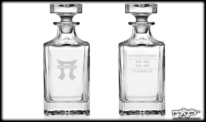 187th Rakkasan Whiskey Decanter