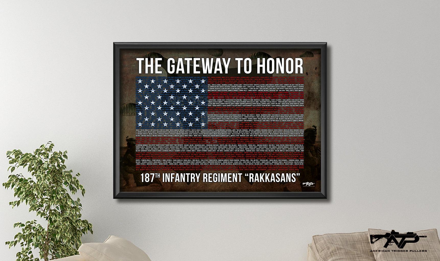 187th Rakkasan Memorial Canvas