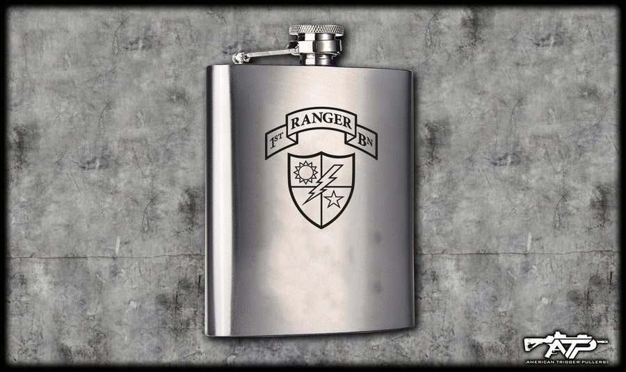 75th Ranger Scroll Flasks