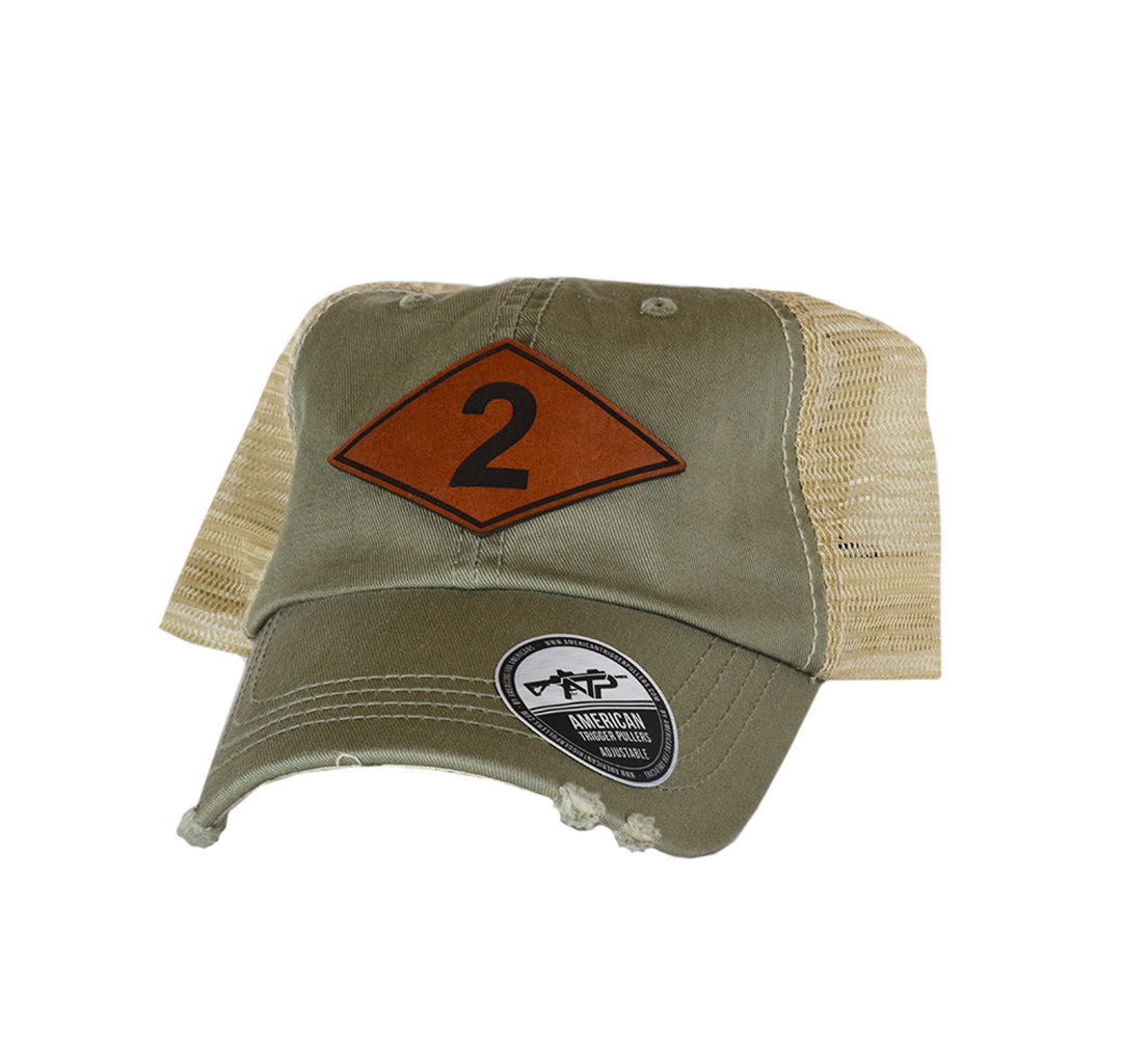 Ranger Batt Diamond Leather Dad Cap