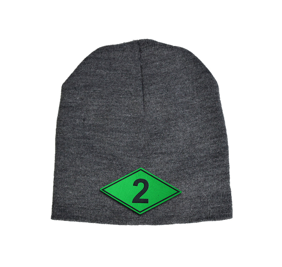 Battalion Diamond Green Leather Beanie