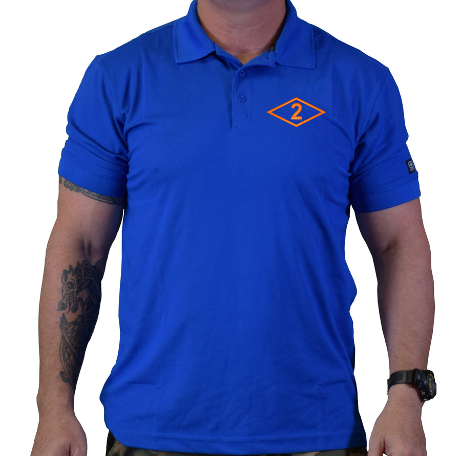 2D Batt Diamond Polo