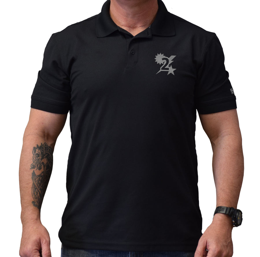 2D Batt Star Sun Bolt Polo