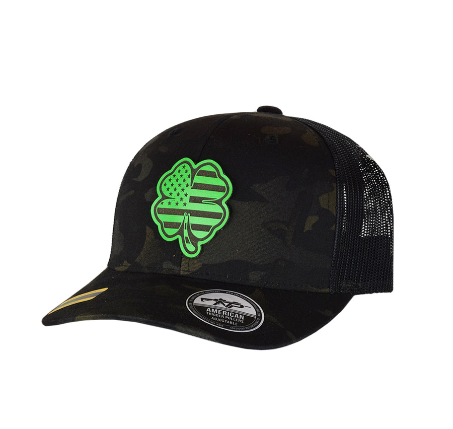 USA Clover Leather SnapBack