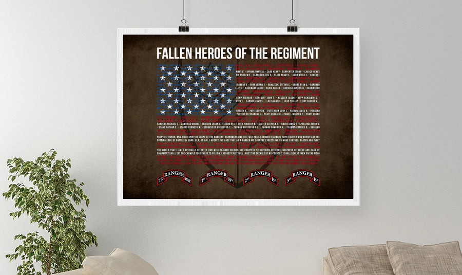 75th Ranger Memorial Canvas