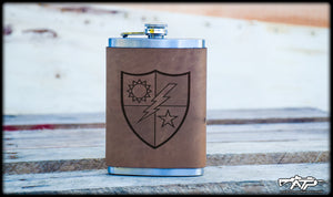 75th DUI Leather Flask