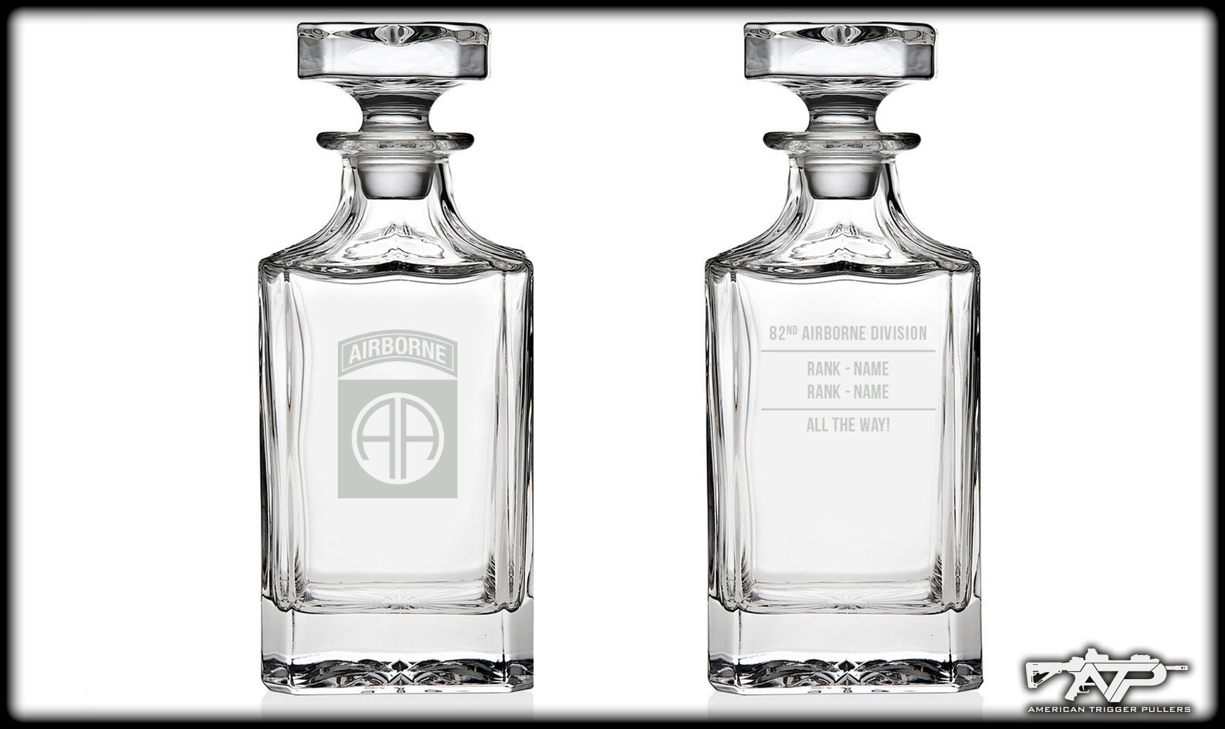 82nd ABN Whiskey Decanter