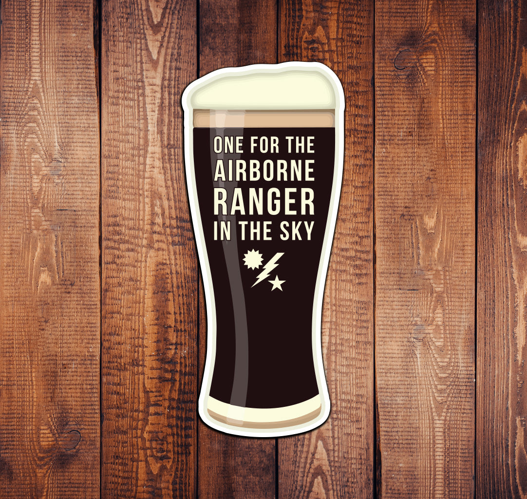 Airborne Ranger Pint Sticker
