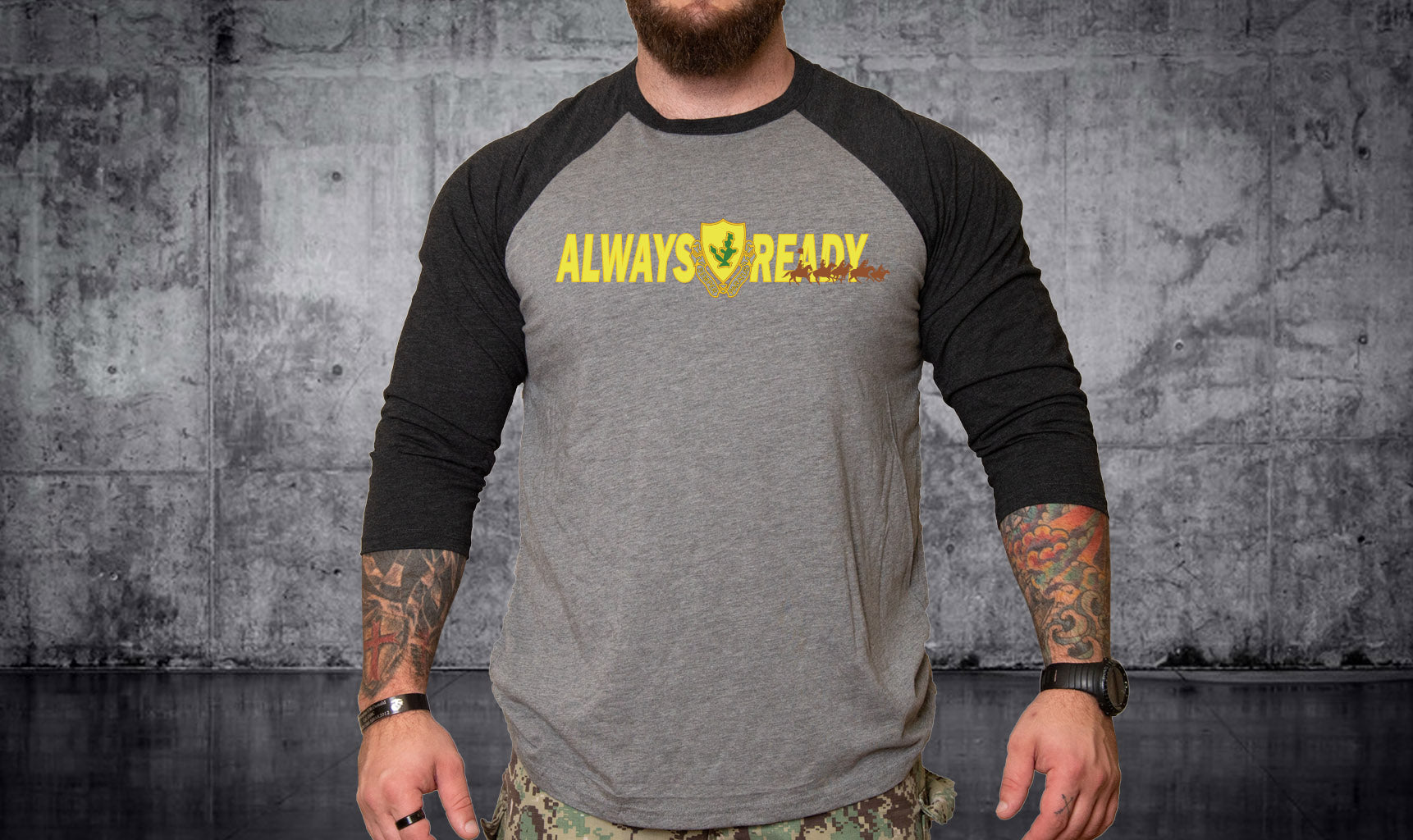 1-12 Cav Always Ready Raglan