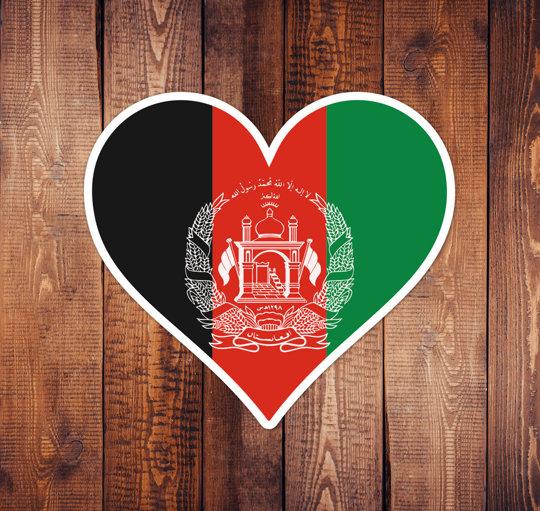 Afghan Commando Heart Sticker