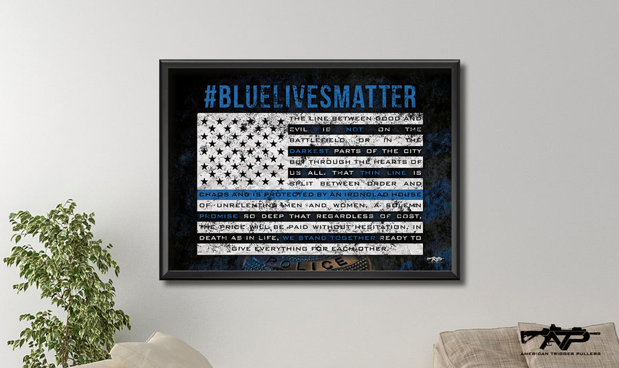 Blue Lives Matter Canvas