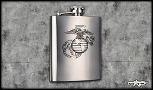 Bear Arms EGA Flask
